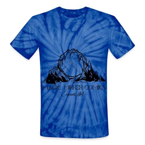 Black Logo tie dye - Unisex Tie Dye T-Shirt