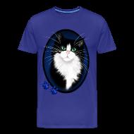 T-Shirts ~ Men's Premium T-Shirt ~ TUXEDO and Paws