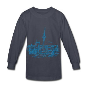 Panorama of Berlin - Kids' Long Sleeve T-Shirt