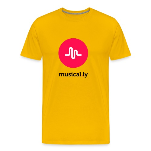 Yellow Musical.ly Men's T-shirt - Men's Premium T-Shirt