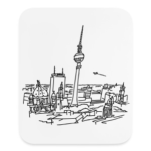 Panorama of Berlin - Mouse pad Vertical