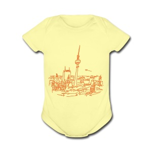 Panorama of Berlin - Short Sleeve Baby Bodysuit