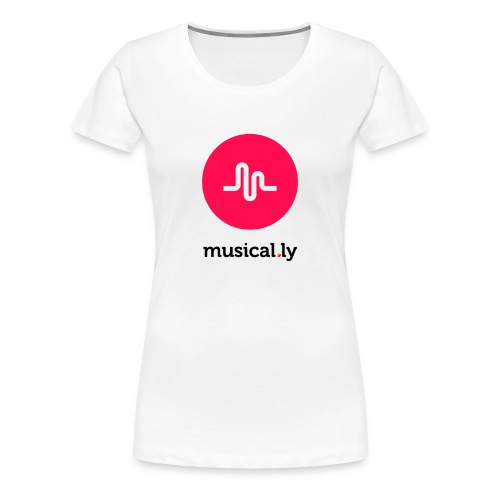 White Musical.ly Women's T-shirt - Women's Premium T-Shirt