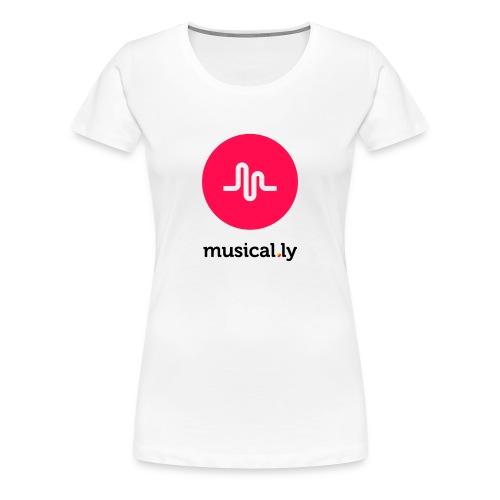 White Musical.ly Women's T-shirt - Women's Premium T-Shirt