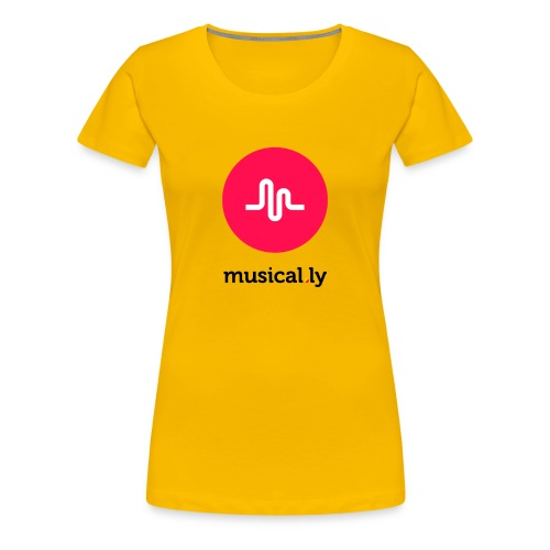 Yellow Musical.ly Women's T-shirt - Women's Premium T-Shirt