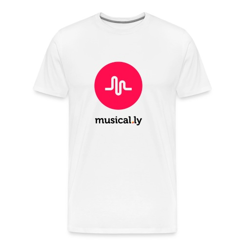 White Musical.ly Men's T-shirt - Men's Premium T-Shirt
