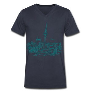Panorama of Berlin - Men's V-Neck T-Shirt by Canvas