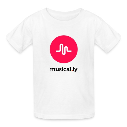 White Musical.ly Youth T-shirt - Kids' T-Shirt