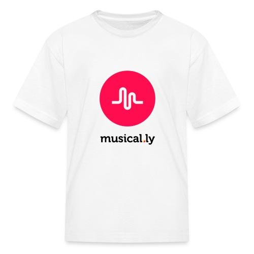 White Musical.ly Youth T-shirt - Kids' T-Shirt