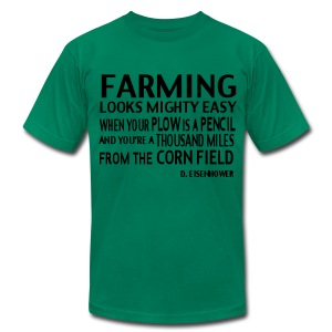 Farming D.Elsenhower - Men's T-Shirt by American Apparel