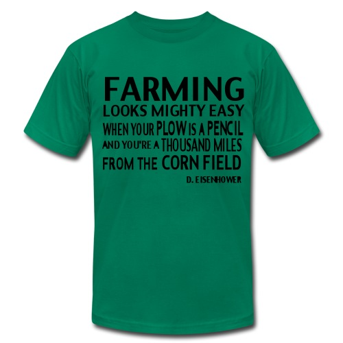 Farming D.Elsenhower - Men's Fine Jersey T-Shirt