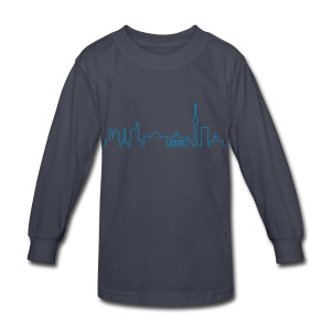 Skyline of Berlin - Kids' Long Sleeve T-Shirt