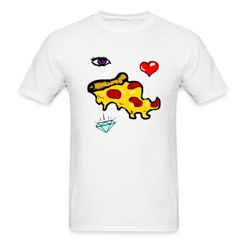 eye luv pizza (mens) - Men's T-Shirt