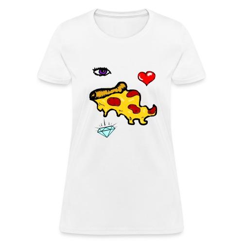 eye luv pizza (women's) - Women's T-Shirt