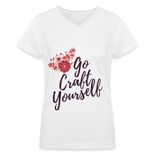 Go Craft Yourself – Purple - Women's V-Neck T-Shirt