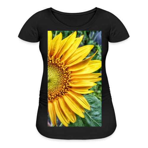 Real Sunflower Graphic Maternity Tee - Women's Maternity T-Shirt
