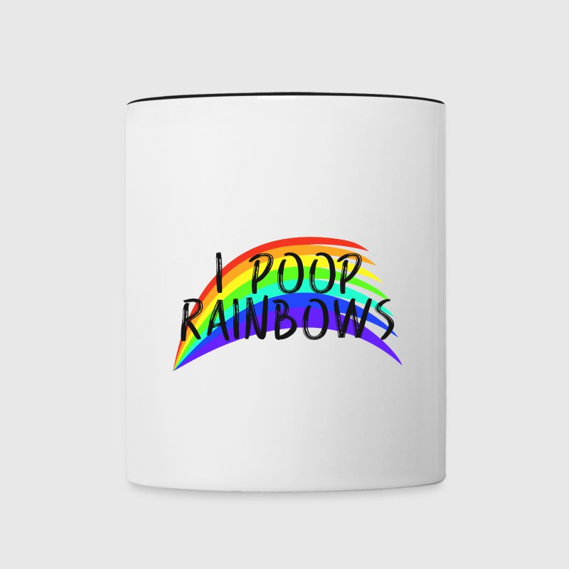 I POOP RAINBOWS - Contrast Coffee Mug