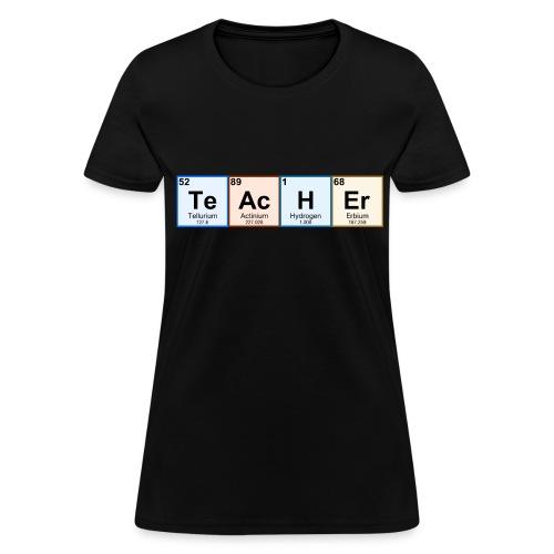 Periodic Table Chemistry Teacher - Women's T-Shirt