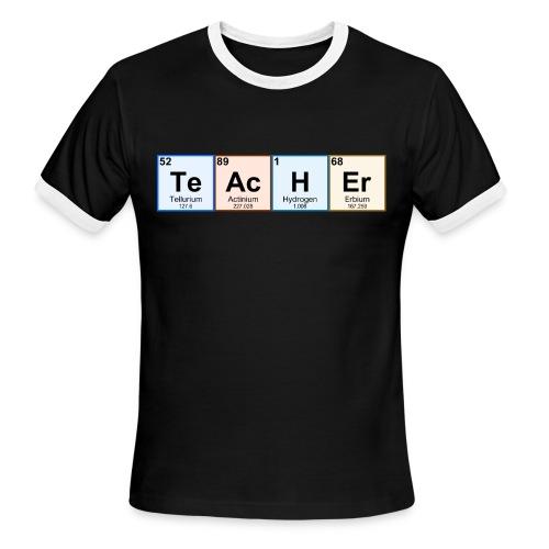Periodic Table Chemistry Teacher - Men's Ringer T-Shirt