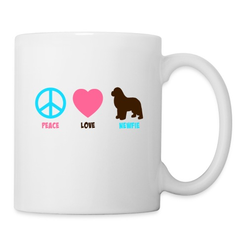 Peace Love Newfie Mug - Coffee/Tea Mug