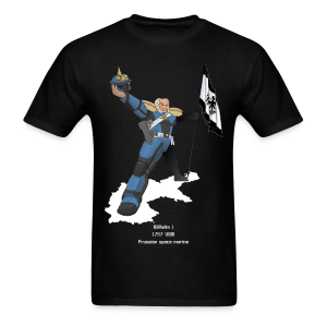 Wilhelm 1, Prussian space marine - normal edition - Men's T-Shirt