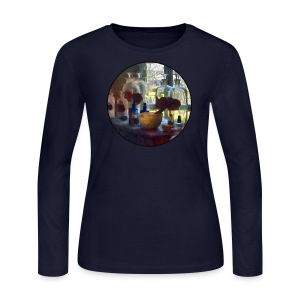 Mortar, Pestle and Bottles by Window Long Sleeve Shirts - Women's Long Sleeve Jersey T-Shirt