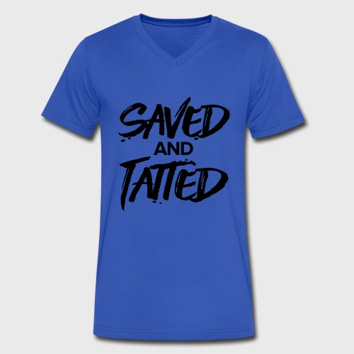 Saved & Tatted - Men's V-Neck T-Shirt by Canvas