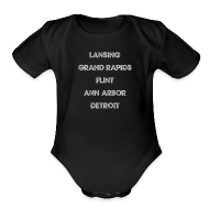 Baby Bodysuits ~ Baby Short Sleeve One Piece ~ Lansing Grand Rapids Flint Ann Arbor Detroit
