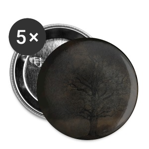 Stormy Tree Button - Large Buttons