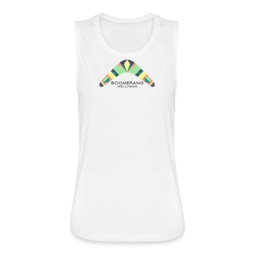 Slouchy boomerang muscle shirt - Women's Flowy Muscle Tank by Bella