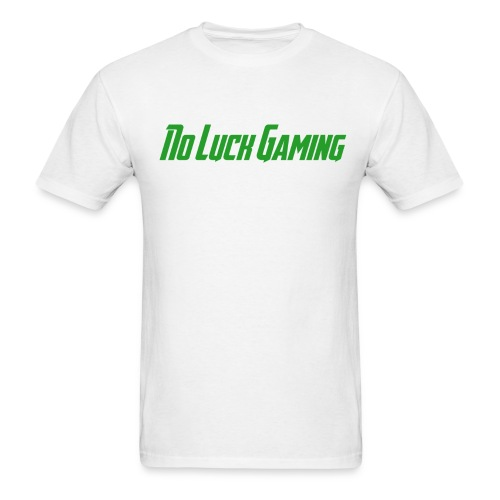 No Luck Gaming white - Men's T-Shirt