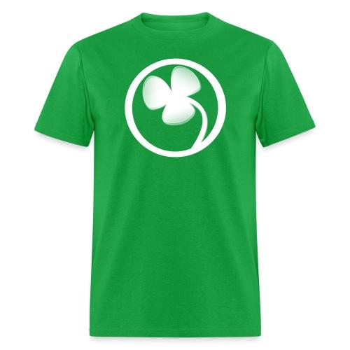 white noL logo green - Men's T-Shirt