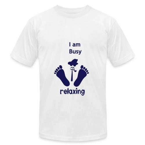 Busy relaxing - Men's Fine Jersey T-Shirt