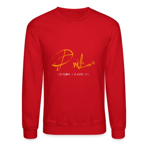 Prika Designer Sweater Red - Crewneck Sweatshirt