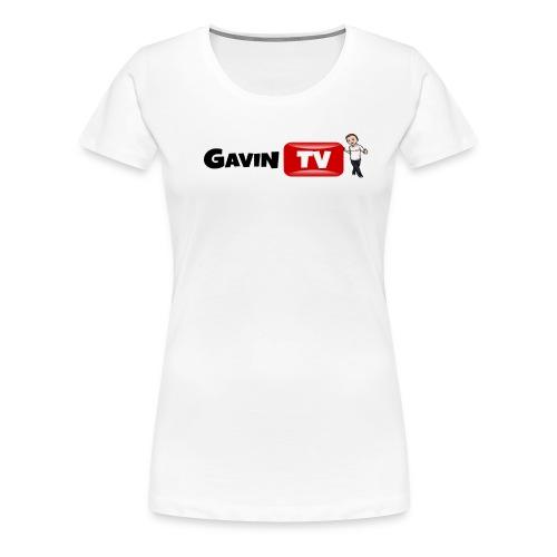 Women's T-Shirt GavinTV YouTube Logo - Women's Premium T-Shirt
