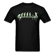 T-Shirts ~ Men's T-Shirt ~ Evolution: Zombie (glowing in the dark)