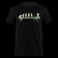 T-Shirts ~ Men's T-Shirt ~ Evolution: Zombie (glowing in the dark)
