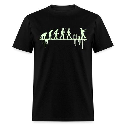 Evolution: Zombie (glowing in the dark) - Men's T-Shirt