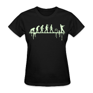 T-Shirts ~ Women's T-Shirt ~ Evolution: Zombie (glowing in the dark)