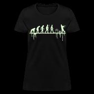 T-Shirts ~ Women's T-Shirt ~ Evolution: Zombie (glowing in the dark)