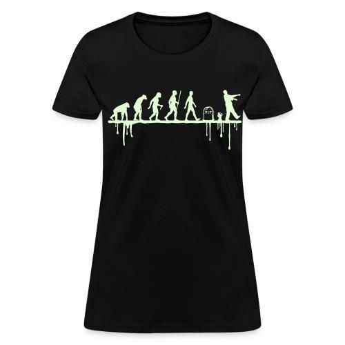 Evolution: Zombie (glowing in the dark) - Women's T-Shirt