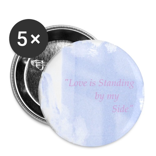 Love, Cross, Angel Faith Button - Large Buttons