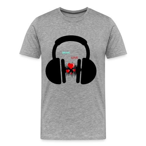 Music Love Shirt - Men's Premium T-Shirt