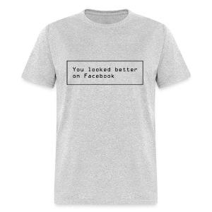 Facebook Funny text - Men's T-Shirt