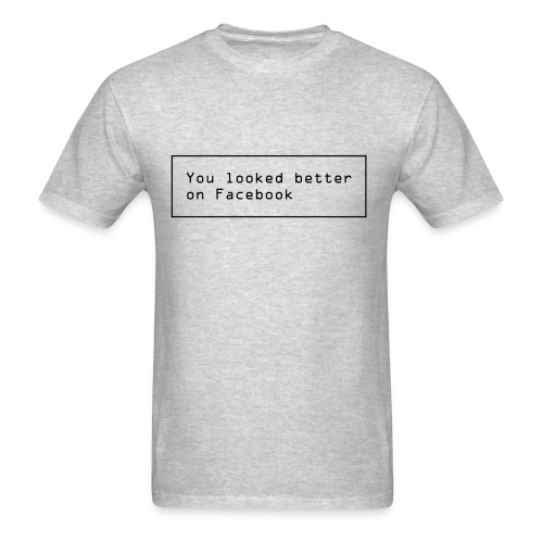 Facebook Funny text - Men's T-Shirt