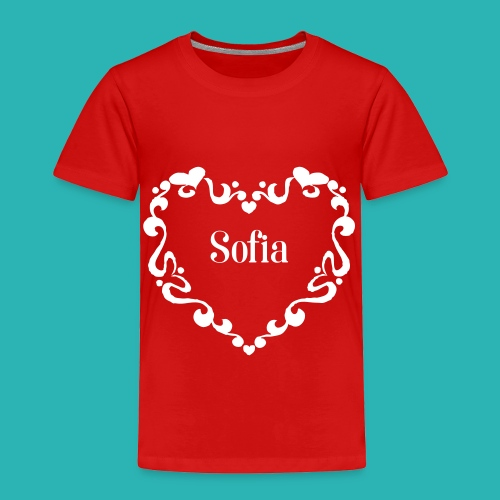 Personalize name heart swirl wreath - Toddler Premium T-Shirt