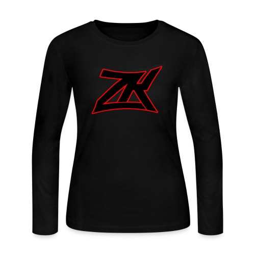 BLACK Women's Long Sleeve T-Shirt - Women's Long Sleeve Jersey T-Shirt