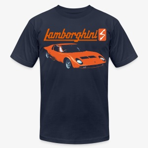 lamborghini miura arancio - Men's T-Shirt by American Apparel