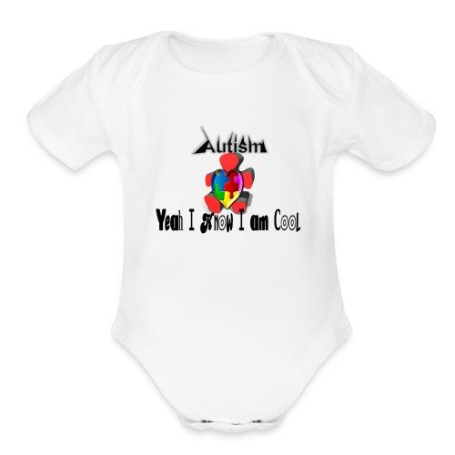 Cool - Organic Short Sleeve Baby Bodysuit