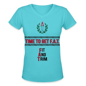 athletic slogan - Women's V-Neck T-Shirt